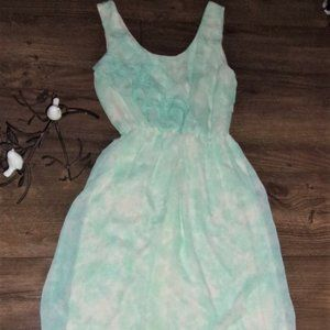 Maurices extra small womens pretty dress green